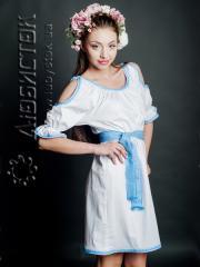 Вышитое модное платье ЖП 43-55