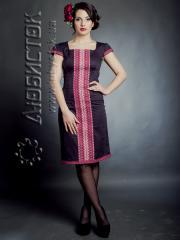 Вышитое модное платье ЖП 54-47