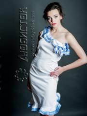 Вышитое модное платье ЖП 64-58