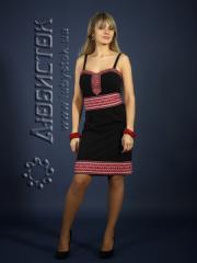 Вышитое модное платье ЖП 74-26bk
