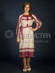 Вышитое модное платье ЖП 75-75