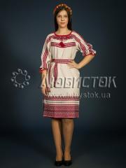 Вышитое модное платье ЖП 75-80