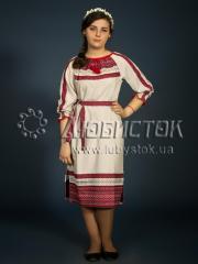 Вышитое модное платье ЖП 75-82