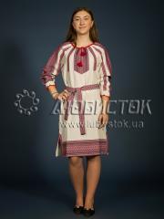 Вышитое модное платье ЖП 77-60