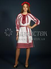 Вышитое модное платье ЖП 77-75