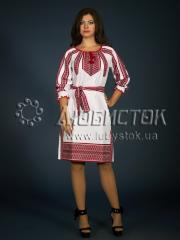 Вышитое модное платье ЖП 77-80