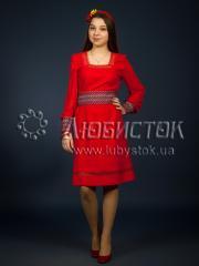 Вышитое модное платье ЖП 90-87