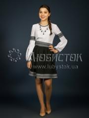 Вышитое модное платье ЖП 93-5