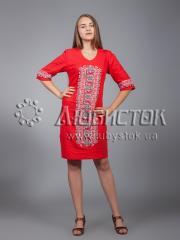 Вышитое платье ЖПВ 15-2