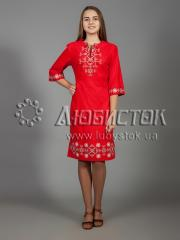 Вышитое платье ЖПВ 26-1