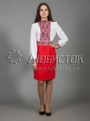 Вышитое платье ЖПВ 28-1