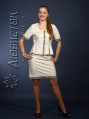 Вышитый модный женский костюм ЖК 64-62
