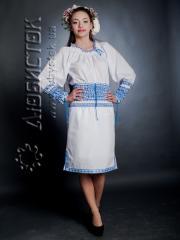 Вышитый модный женский костюм ЖК 65-32