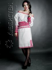 Вышитый модный женский костюм ЖК 65-37