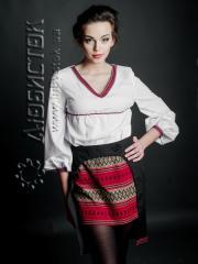 Вышитый модный женский костюм ЖК 77-43