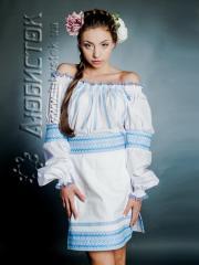 Вышитый модный женский костюм ЖК 78-55