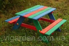 Мебель садовая деревянная для детей