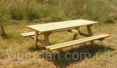 Стол для пикника, дачи и сада с откидными
