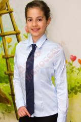 Блузка школьная длинный рукав для девочки +галстук