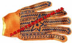 Перчатки оранжевая звезда