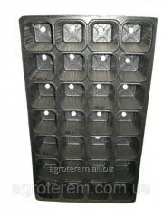 Кассета для рассады Польша 28 ячеек, размер 31.5*52.5 см, толщина 0.55 мм
