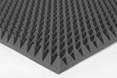 Акустический поролон пирамида 70мм Цвет черный