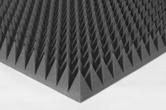 Акустический поролон пирамида 90мм Цвет черный