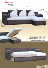 2 Angular sofa Babylon