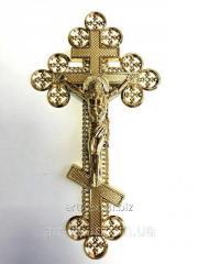 """Крест """"Ажурный"""" с распятием - металлизация золото"""