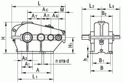 Редуктор цилиндрический горизонтальный