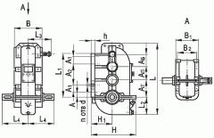 Редуктор вертикальный крановый трехступенчаты