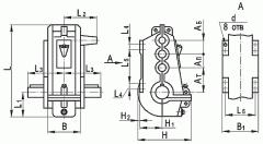 Редуктор вертикальный крановый трехступенчатый типа ВКУ, ВКУ-М