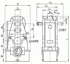 Редуктор вертикальный крановый трехступенчатый типа В, В-М И ВФ, ВФ-М