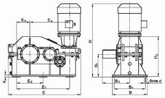 Мотор-редуктор червячно-цилиндрический типа...