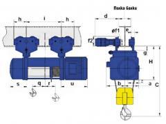 Таль электрическая канатная передвижная МТ для