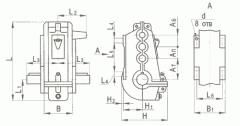 Редуктор вертикальный крановой трехступенчатый типа ВКУ, ВКУ-М