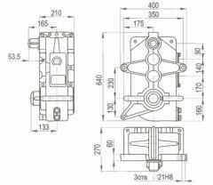 Редуктор на вертикалните кранови три-диференцирани-400, 400 м
