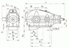 Редуктор вертикальный крановой трехступенчаты