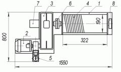 Лебедка электрическая ЛЭЦ–1