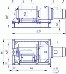 Лебедка электрическая ЛЭ-1-200