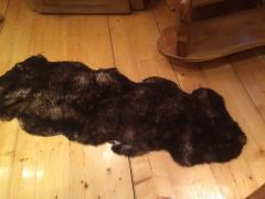 Ковер из 2-х овечьих шкур, коричневый