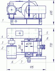 Лебедка электрическая ЛЭO–20М-2 с канатоукладчиком