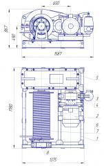 Лебедка електрическая ЛЕЦ-3-100 длинный барабан
