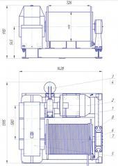 Лебедка електрическая ЛЕЦ-3-100 50  короткий барабан