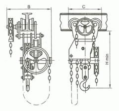 Таль ручная червячная передвижная ТРЧП 1,0 т; 3,2 т; 5,0 т; 8,0 т