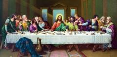 Hand-written icon Last Supper