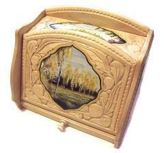 Birch bread box