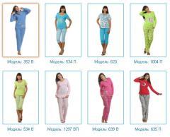 Пижамы женские, состав: хлопок 100%, размеры: 44-60