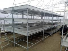 Industrial hydroponic installations