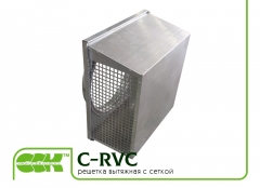 Channel exhaust grille with C-RVC-315 mesh